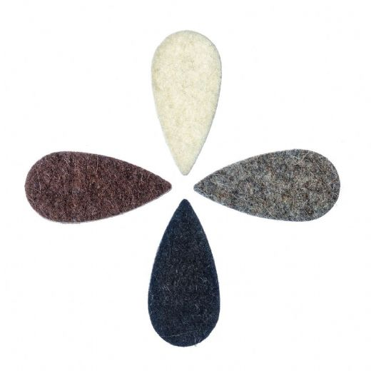 Felt Tones Teardrop Mixed Pack of 4